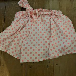 Girls pink polkadot flowy shorts